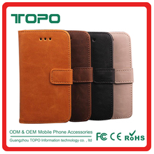 Durable PU Leather Wallet Flip Covers Mobile Leather Phone Accessories Case with card holder For iphone 4 5 5s 6 6s plus