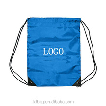 custom logo polyester drawstring bag backpack waterproof