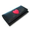Black Long leather wallets and cheap name brand purses