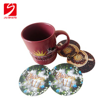 Printed insulated silicone tableware coaster for drinking