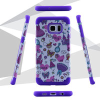 Print Water Paste Process PC Silicone Hybrid Fancy Mobile Phone Case For Samsung Galaxy Note 5