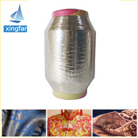 cheap flat film metallic gold yarn for weaving