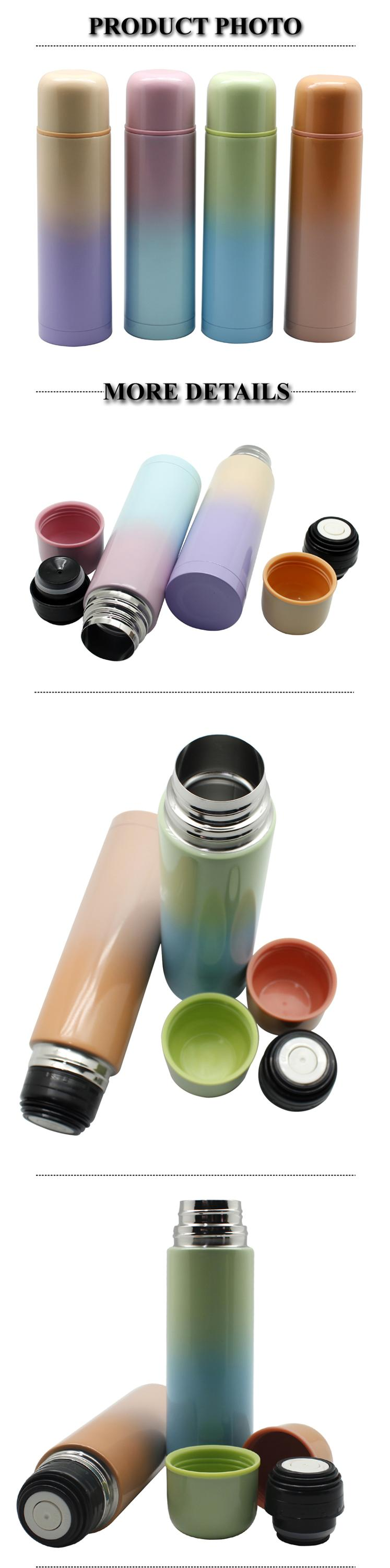 Gradient Ramp Painted Double Wall Stainless Steel #304 inner insulated water bottle