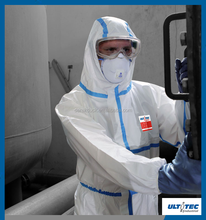 Disposable nonwoven SMS coverall for asbestos removing approved CE type 5 type 6 coverall