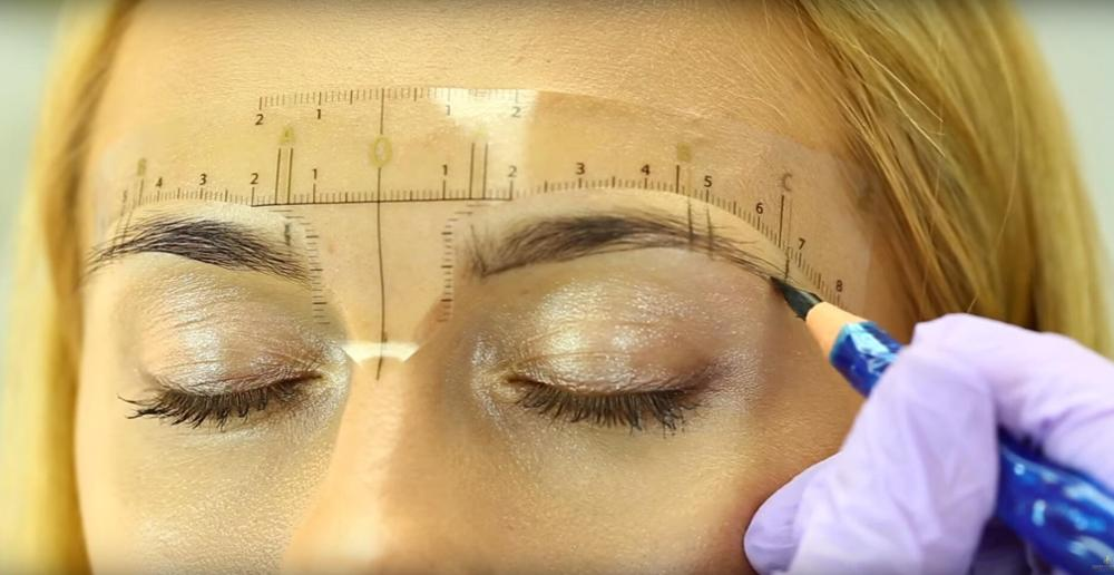 Newest Permanent Makeup Eyebrow Stencil/Eyebrow Stamps Kit