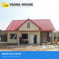 Low Cost Ready Made Windproof Reliable Lightweight Small Villas House 120M2 Soundproof Prefabricated Steel Material Villa