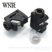WNRE female pcb mount PJ-362 3.5mm headphone jack 5 pin 3.5 stereo connector