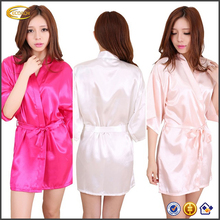 Ecoach wholesale kimono satin dressing gown kimono women long sleeve towel robe sexy sleeping robe for women
