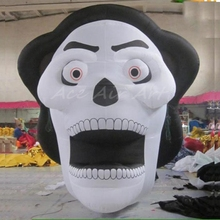 hot sale party decoration item zombie for cartoons inflatable halloween skull
