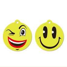 Custom Smiley Face Type Car Air Freshener Various Scents Hanging Paper Air Freshener
