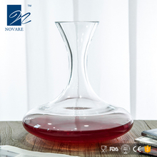Flat Opening Clear Glass Crystal Wine Decanter Wine Carafe