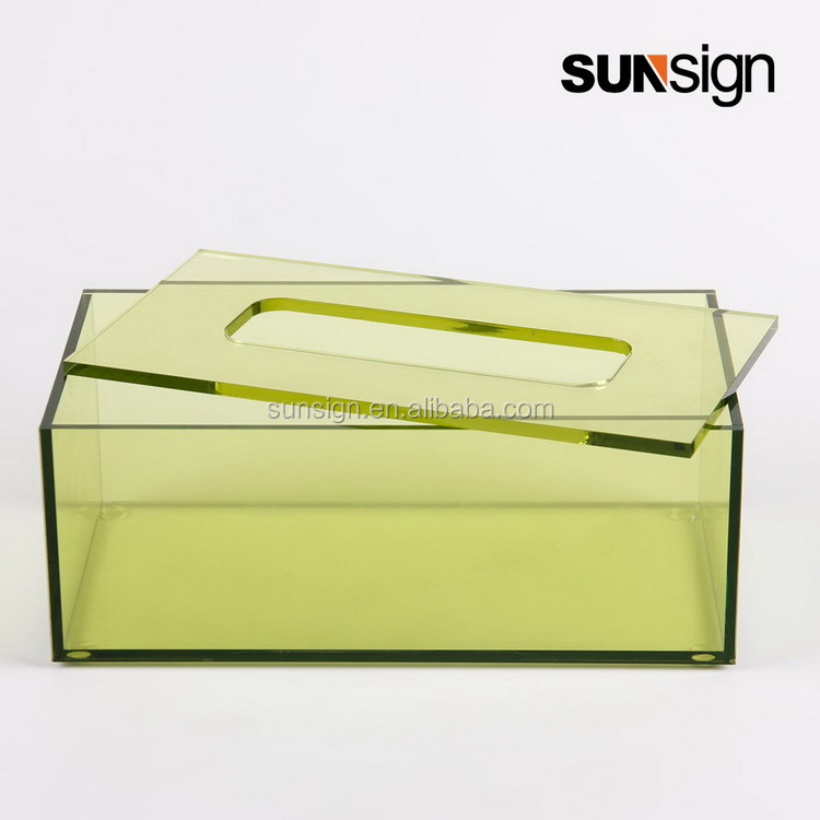 Colorful Perspex Napkin Tissue Box /Acrylic <strong>U</strong> Shape Combined Tissue Box
