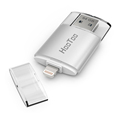HT-IM002 USB 3.0 Flash Drive with Lightnning connector For iPhones, iPads ,iPod& Computers, 64GB , Silver Grey