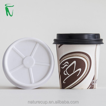 single wall disposable paper cup printed hot coffee cup with lids 4oz 120ml