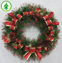 Wholesale party$wedding decorations,artificial pine needle Christmas garland/wreath