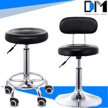 Round Seat 360 Swivel Used Bar Stools With five Stainless steel Wheels/Bar Chair