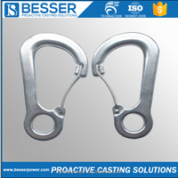 BesserPower Chinese Supplier 316 stainless steel Carabiner Bulk Precision Casting