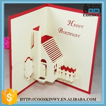 Attractive price new type printing happy birthday greeting card