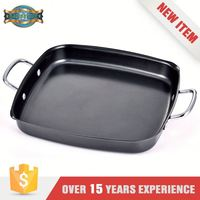 High Quality Stamped Steel Gas Stove Pans Happy Call Non Stick Grill Pan