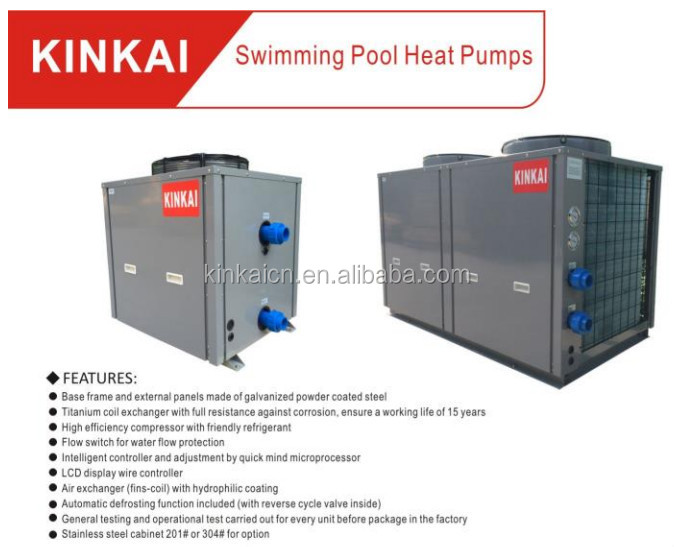 Kinkai Structural Disabilities Superior Performance Portable Heat Pump For Swiming Pool And Spa