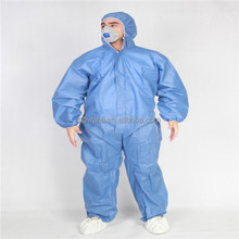 CE-certified Cat. III Type 5+6 Hood Disposable SMS COVERALL