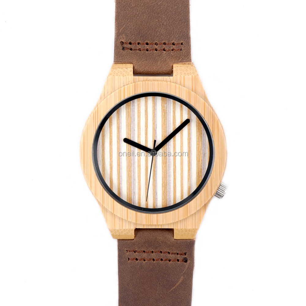 2017 Wholesale Ladies Men Unisex Engraved Custom Wooden Watches With Your Logo