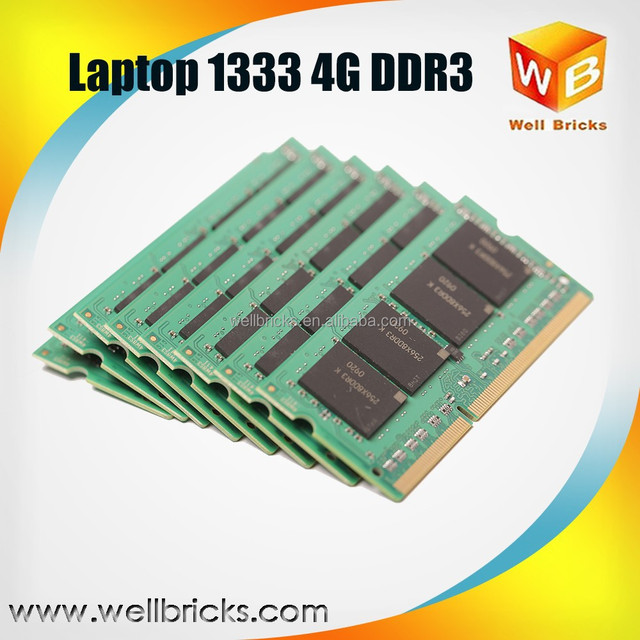 Cheap ram memory ddr3 4gb 1333mhz memory module for laptop NoteBook