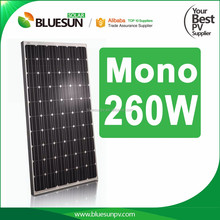 Best price 260 watt monocrystalline pv solar panel for grid tie and off grid solar power system