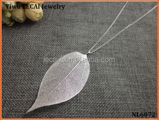 Wholesame REAL Nature Walnut Tree Leaf Pendant dipped in gold Plated Charm Pendant