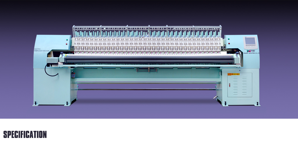 YBD166 High Speed Automatic Quilting Embroidery Machine