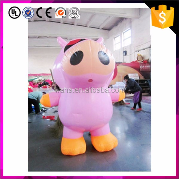 Custom make animal cartoon giant inflatable cow for sale
