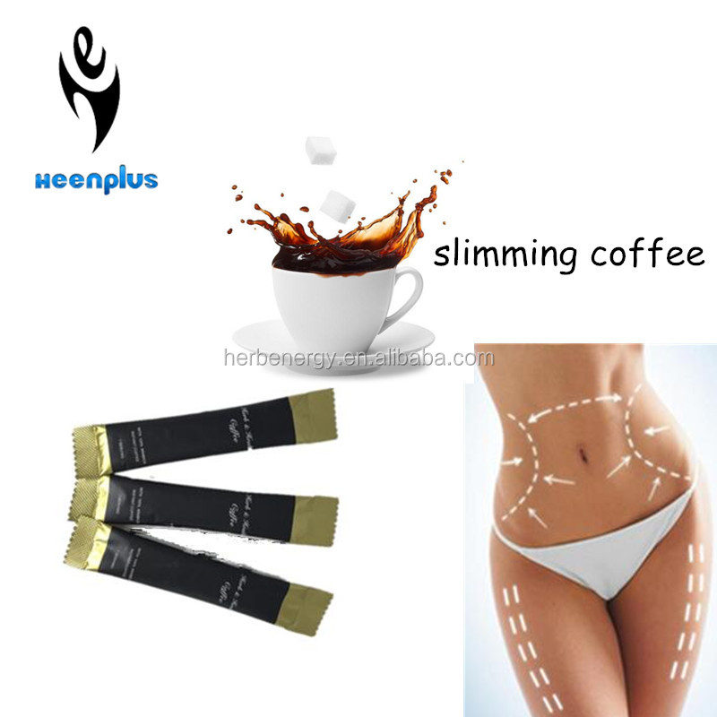 Instant coffee with garcinia cambogia extract, fat burners slimming coffee
