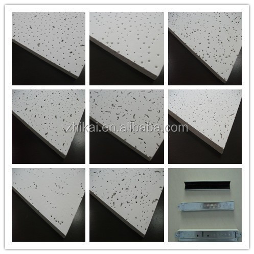600x600 acoustic fire rated ceiling tile 2x2