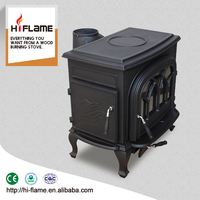 Multifunctional HiFlame cast iron fireplace mini wood stove with CE certificate HF737U