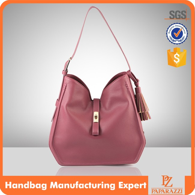 M5187 2016 guangzhou wholesale fashion Europe leisure style women PU leather handbag ladies purses handbags with custom logo