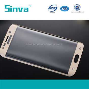 Wholesale price 3D curved full tempered glass screen protector for s6 edge plus