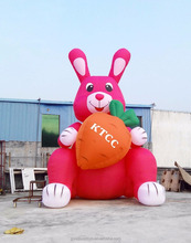 Custom lovely giant advertising inflatable rabbit,inflatable farm animal model