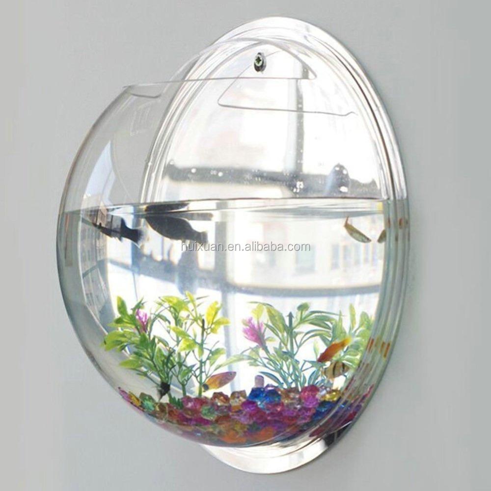 Fashion Design Fish Bubble Wall Mounted Acrylic Fish Bowl - Buy Fish ...
