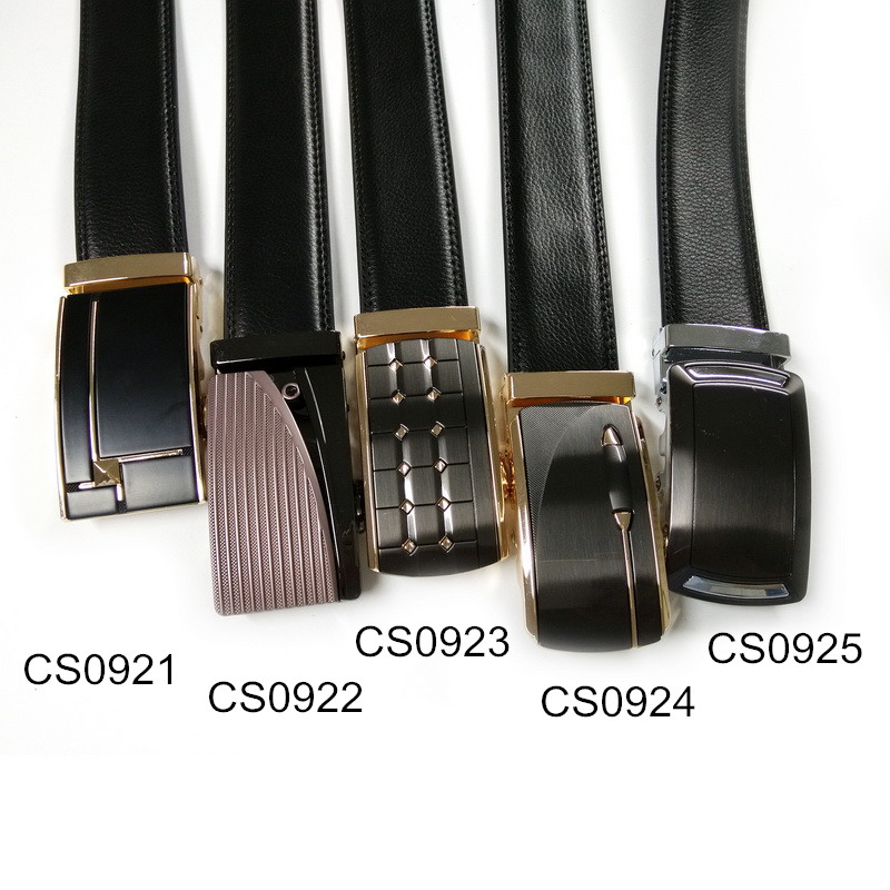 Fashion Men's Genuine Leather Belt Strap Designer Belts Automatic Personality Gold Buckle Cow Leather Mens Belts