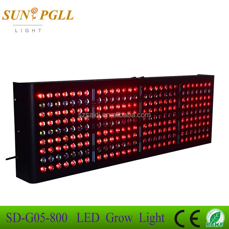 Hot Sales 800W LED grow light perfect mix of 3 watt and 5 watt diodes create the ideal amount of light for plants FCC CE ROHS