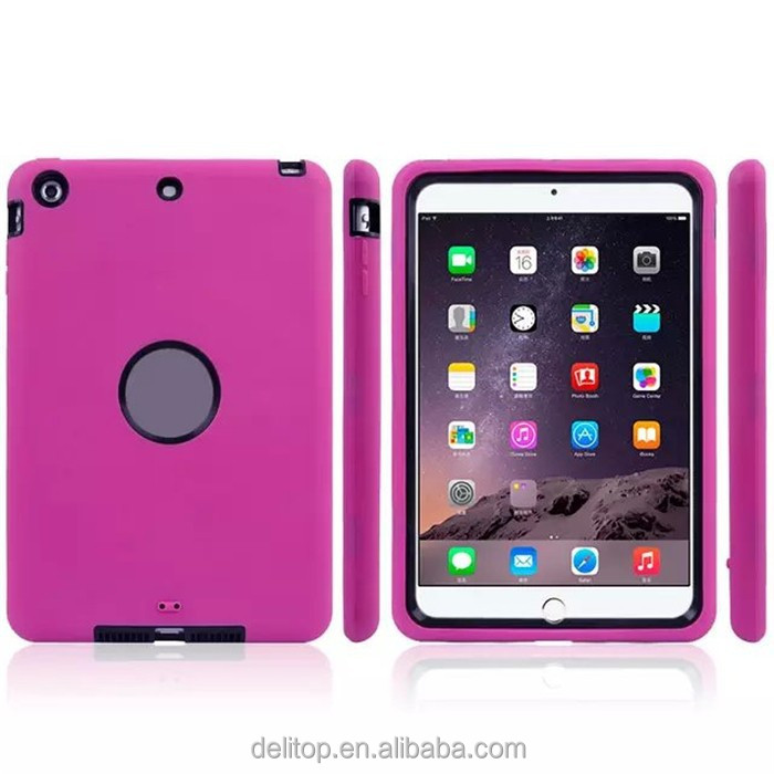 Newest Robot Design Rubber Back Case For Apple iPad mini 3