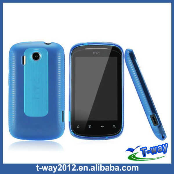 Clear silicone case for htc explorer back covers A310E