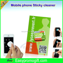 Factory direct sell cheap price reusable mobile phone sticky screen cleaner