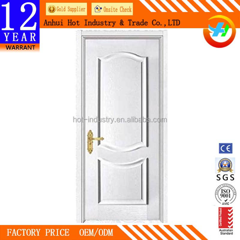 Simple White Interior Single French Door High Quality Solid Wood Entry Door For Villas Living Room Comfortable Bedroom Door