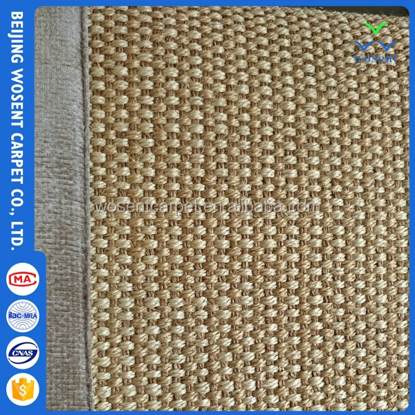 New style wall to wall natural sisal roll woven floor weave carpet