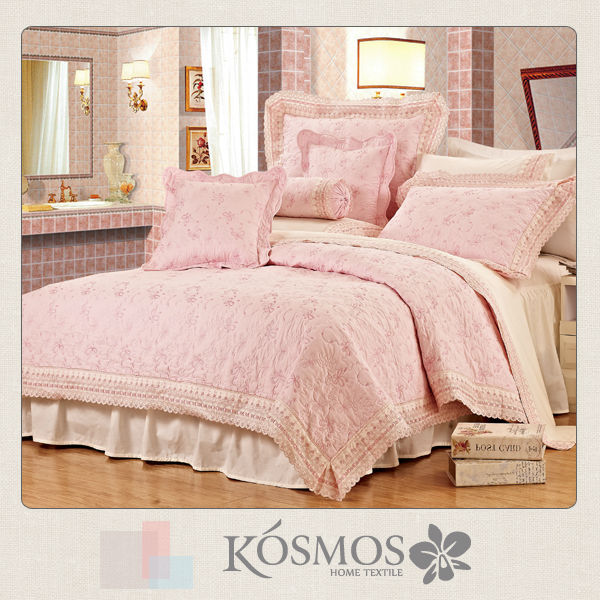 Embroidered lace bed cover sweet home