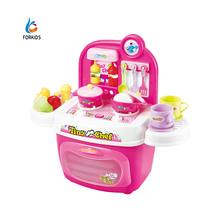 Happy kitchen play toys, plastic kitchen table tableware toy set