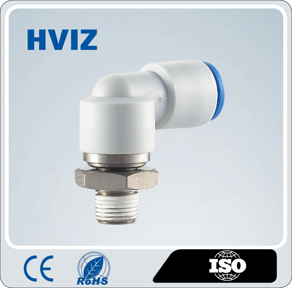 High performance high speed whirl pneumatic fitting of high quality /rotation pipe elbow fittingH-KSL