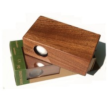 Classic wood portable magnetic induction speakers parts no power needed mini speaker