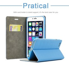 New Year Promotion 4.7 Inch Combo PU Flip Cover Wallet Case for Iphone 6